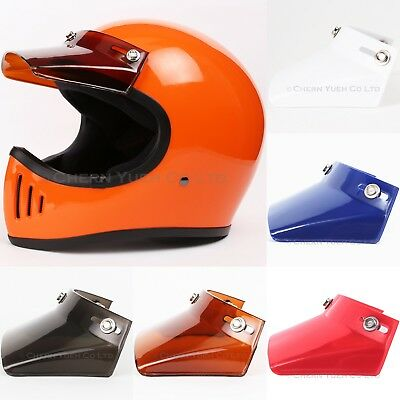 Visor Duckbill Peak Sunshield for 3-Snap Motorcycle Open Face Helmets