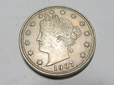 USA United States 5 Cents Nickel 1907.