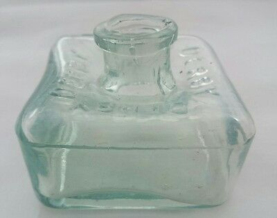 Unusual Large Size Derby Square Type Ink Bottle