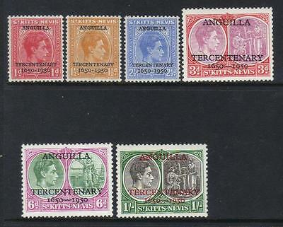 St Kitts Nevis 1950 Tercent M/m Set Of 6