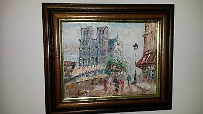 Oil painting by Burnett. Signed and framed