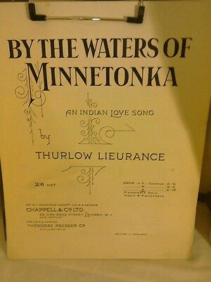 Vintage Sheet Music-By The Waters of Minnetonka by T.Lieurance.1914