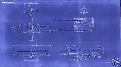 P-51 MUSTANG WW2 Blueprint Plans 1940s Historic Collectable Archive RARE