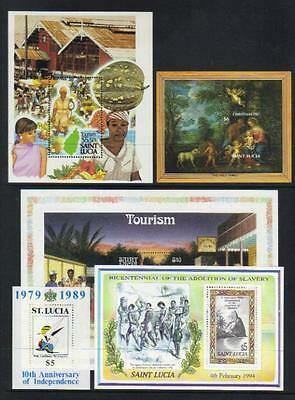 St Lucia Selection Of 5 U/m M/s