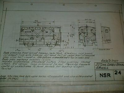 North Staffordshire Railway Goods Wagon & Brake Qty Two Drawings Edwards Bros