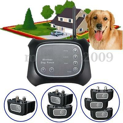 Wireless Pet Fence Containment 1 /2 /3 Dog Systems Invisible Waterproof US EU