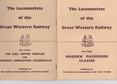 LOCOMOTIVES OF THE GREAT WESTERN RAILWAY Parts 1, 8, 11 gwr RCTS Taff Vale Barry