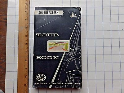 1953 AAA Southeastern Tour Book. 272 pgs. LOTS of local ads.  Maps, mileage, etc