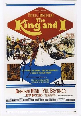 SIGNED THE KING AND I MOVIE  POSTER PRINT12x8
