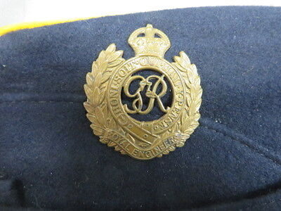 Original Ww 2 Royal Engineers Coloured Field Service Cap