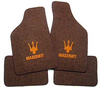 Maserati Biturbo 222 224 424 430 TAPIS MARRON-OR