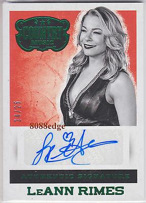 2014 PANINI COUNTRY MUSIC AUTO: LeANN RIMES #24/25 AUTOGRAPH BILLBOARD RECORD