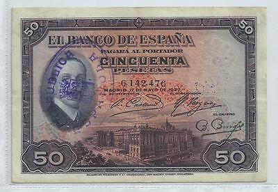 billete de 50 PESETAS BE