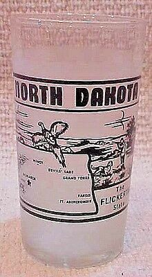 North Dakota Frosted Glass Tumbler Pheasant Hunting Flickertail State FREE S/H