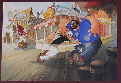 """ESL965. Limited Edition """"Give it to Him, Popeye!"""" Giclée on Canvas by Toby Bluth"""