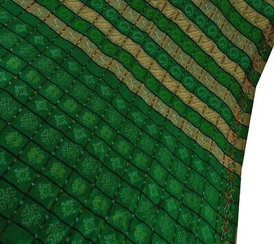 Sanskriti Vintage Indian 100% Pure Silk Saree Woven Craft Fabric Patola Sari