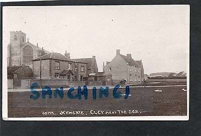 Cley Next The Sea, Newgate, Cottages & Church, Norfolk, Rp. C1912