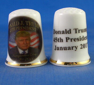 Birchcroft Porcelain China Thimble - Donald Trump 45Th President -  Free Box