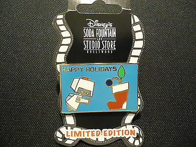 Disney Soda Fountain Dsf Wall-E Holidays M-O With Stocking Pin On Card Le 300