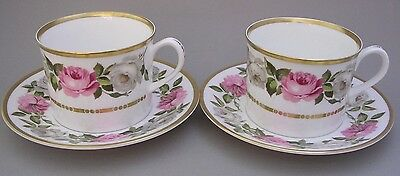 Royal Worcester - Royal Garden - Two Cups And Saucers