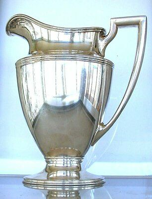 "Tiffany 9 1/4"" x 8 1/4"" x 5 1/4"" Sterling Silver Pitcher 35.2 Oz Total Weight"