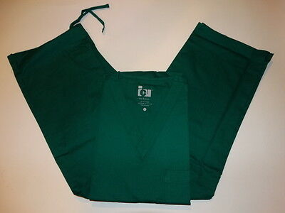 Barco ICU Unisex  Pants 7270-Top 7181 Hunter Green Medical Scrub Set Small NWT