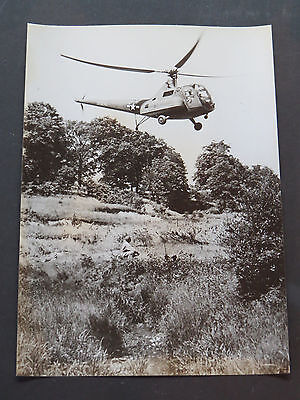 Original 1944 WW2 U.S. Army Sikorsky R-6 Helicopter News Release Photograph #2
