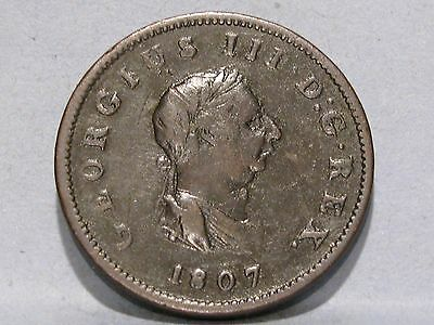 George Iii Copper Halfpenny Coin Dated 1807 (2)