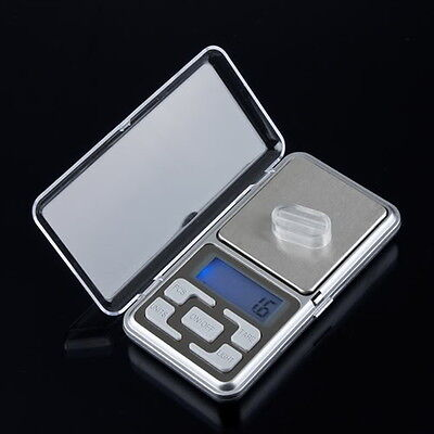 Stainless steel 500g 0.1g Digital Electronic LCD Jewelry Pocket Weight Scale UM