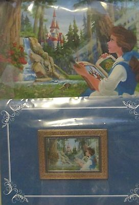 Disney HotArt BELLE the Real castle MoC Book Waterfall Forest ARTWORK and LR Pin