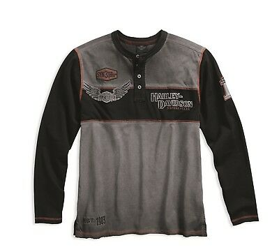 Harley-Davidson Langarm-Shirt Iron Block Black