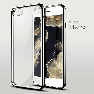 Electro Clear Gel Iphone 7 Plus Soft Cover Case Free Tempered Glass Silver 05