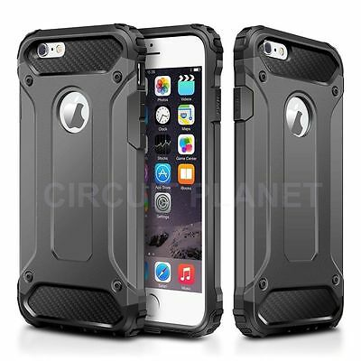 Hybrid Shockproof Hard Heavy Duty Case Cover For Iphone 7 Plus Grey 06