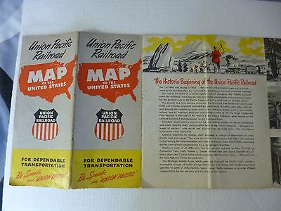 COLLECTABLE UNION PACIFIC RAILROAD MAP BOOKLET  1956? see pictures