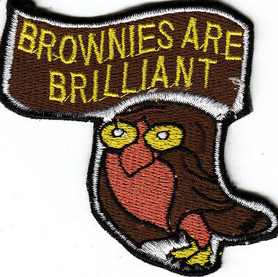 Girl Guide Badge BROWNIES ARE BRILLIANT