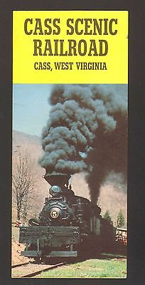 Undated Vacation Travel Souvenir Brochure Cass Scenic Railroad West Vignia WV