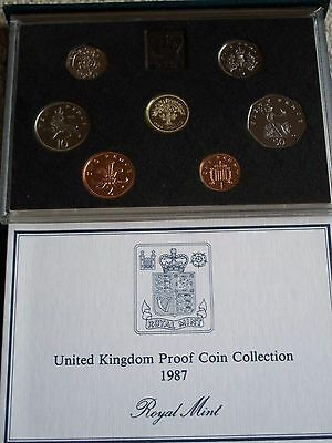 1987 United Kingdom Proof Coin Collection boxed