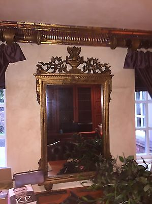 Large French Ornate Gold Mirror