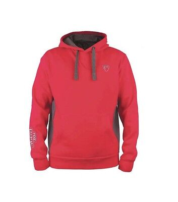 Fox NEW Rage Predator Hoody Red & Grey Ribbed Hoodie *All Sizes*