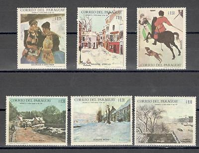 R6074A - Paraguay 1968 - Serie Completa ** Pitture - Foto