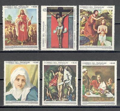 R6075A - Paraguay 1968 - Serie Completa ** Pitture - Foto