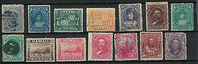 hawaii old stamps 1880s republic used onward part set useful lot