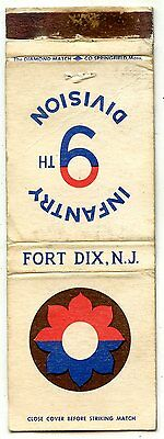 Fort Dix, New Jersey, Infantry 9th Division Matchbook