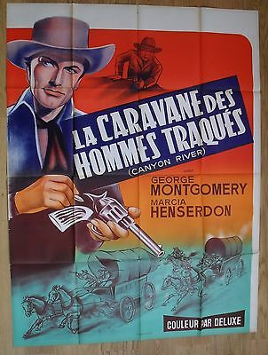 CANYON RIVER George Montgomery western original french movie poster '56 LITHO