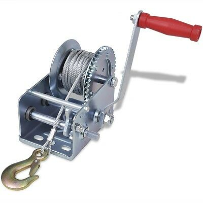 New Iron Hand Winch 1134 kg / 2500 lbs Pickup Trucks Trailers Manual 10 m Cable