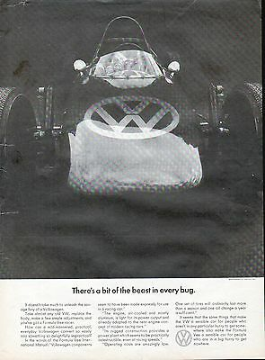 1967 Volkswagen VW Theres A Bit Of Beast In Every Bug Ad
