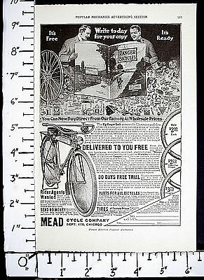 1918 MEAD CYCLE Ranger Bicycle & Repair Parts & Tires catalog Magazine Ad 4179a