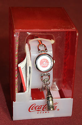 NIB Coca-Cola Wristwatch *Collectible Coke Bottle Charm attached* LADIES WATCH