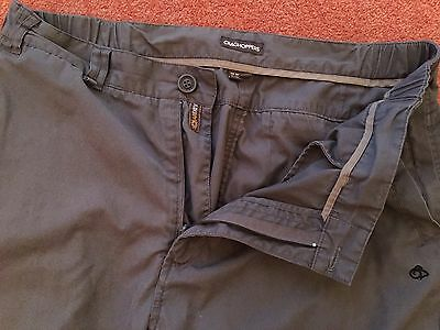 "MENS CRAGHOPPERS SOLARDRY OUTDOOR CARGO WALKING TROUSERS - SIZE 36S  - 36"" x 28"""