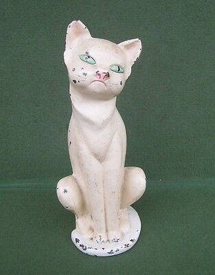 Antique HUBLEY Art Deco Cast Iron CAT Doorstop Decorative Metalware Siamese